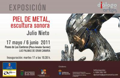 La muestra Piel de metal, del escultor Julio Nieto, llega a Las Palmas de Gran Canaria