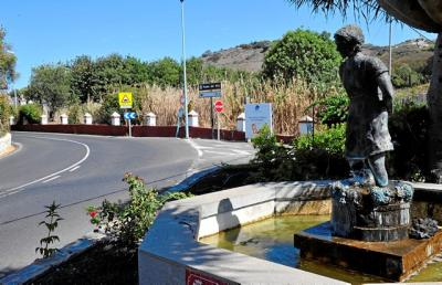 Santa Brígida tiene una escultura huérfana en la subida al Reventón