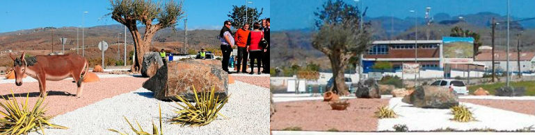 Roban la escultura del burro de la nueva rotonda del Sur