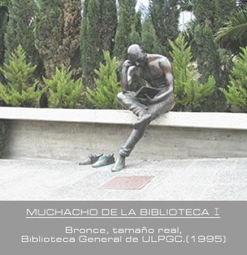 ESCULTURA  MUCHACHO DE LA BIBLIOTECA - I