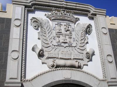 RELIEVE ESCUDO  DE LA CIUDAD DE LAS PALMAS DE GRAN CANARIA