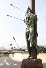 Inaugurada una escultura de San Sebastián, patrón del municipio de Agüimes