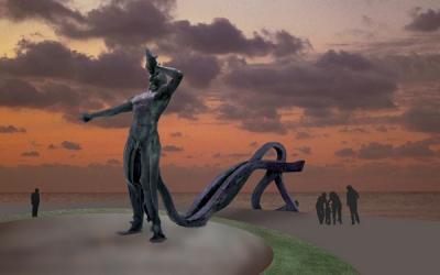 Una escultura emblemática 'abrirᒠla ciudad a los visitantes desde La Laja