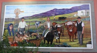 MURAL HOMENAJE AL AGRICULTO, GANADERO Y PASTOR