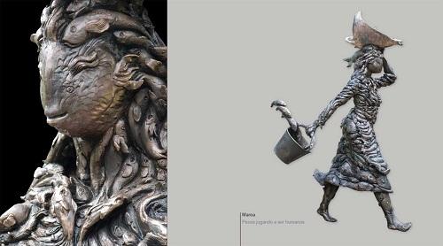 Arucas se llena de esculturas monumentales con la exposición 'Piel de metal'