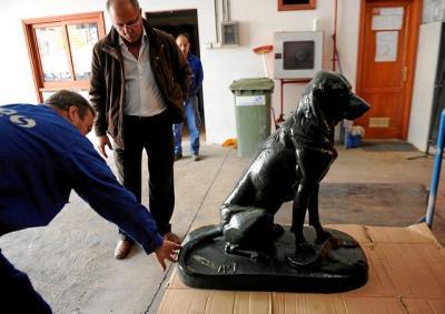 Chapa y pintura curan al perro de Santa Ana