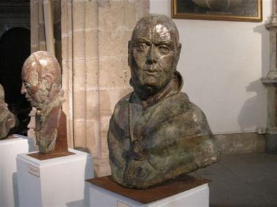 Los bustos de ilustres eclesiásticos